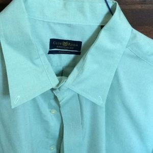 Club Room dress shirt. 18.5/34 light green